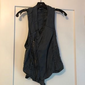 Free People Black Vest